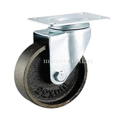 Колесо чугунное 4054 диаметр 125 мм для тележки