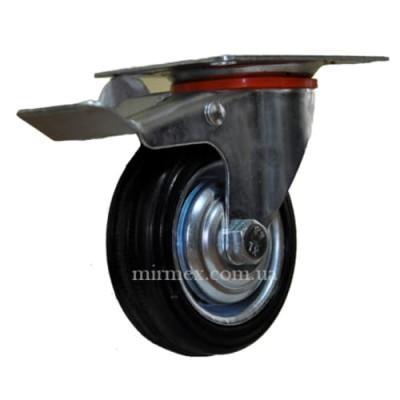 Колесо модель 530075 поворотное с тормозом