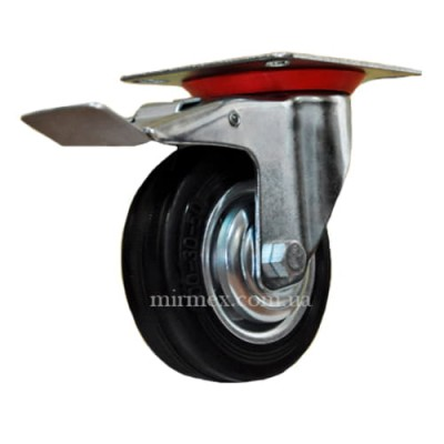 Колесо 530100 диаметр 100 мм для тележки с тормозом