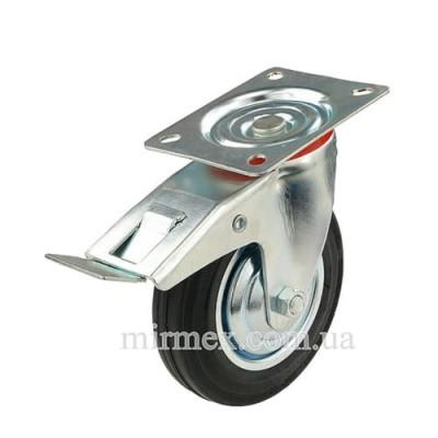 Колесо модель 530160 поворотное с тормозом