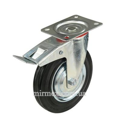 Колесо 530200 диаметр 200 мм для тележки с тормозом