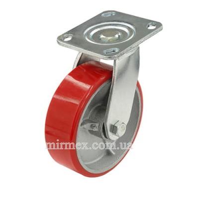 Большегрузное колесо 580150 (6x2) полиуретан/чугун поворотное
