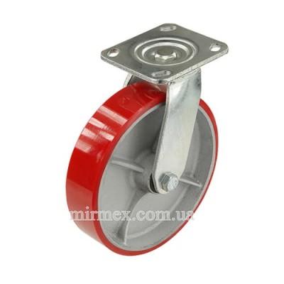 Большегрузное колесо 580200 (8x2) полиуретан/чугун поворотное