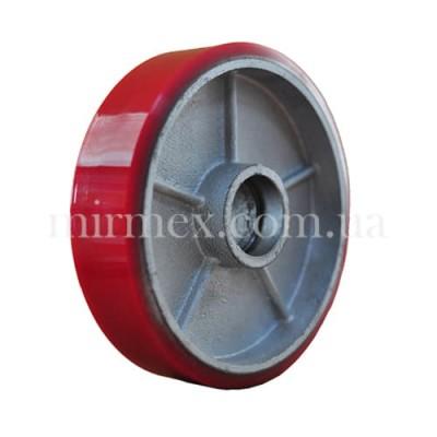 Полиуретановое рулевое колесо PU 200/50 (К9) без подшипника