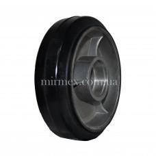Резиновое рулевое колесо R 160х50 (К4) алюминий/резина