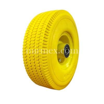 Колесо 3.50-4/204 пенополиуретановое желтое