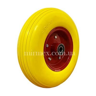 Колесо 4.00-6-204 пенополиуретан для тачек, разборной диск