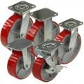 Большегрузные полиуретановые колеса с чугунным основанием