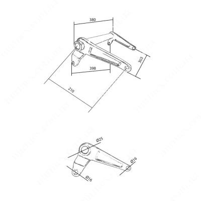 Большой угловой рычаг DF (204) К4
