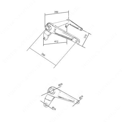 Большой угловой рычаг JC (205)