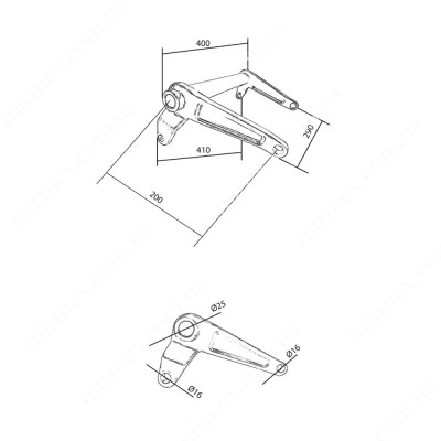 Большой угловой рычаг AC (204) К4