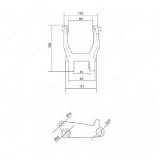 Малый угловой рычаг DF (214)