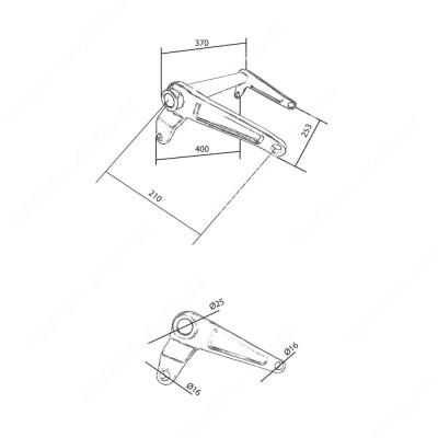 Большой угловой рычаг AC (N112), DF (203)