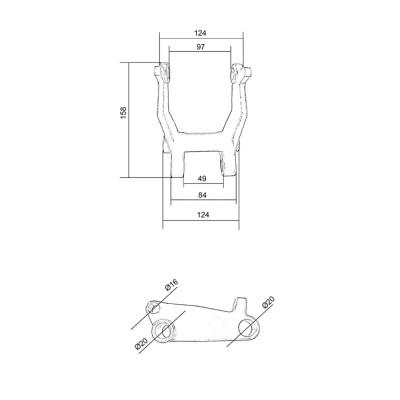 Малый угловой рычаг PWH25-III/PWH25-II